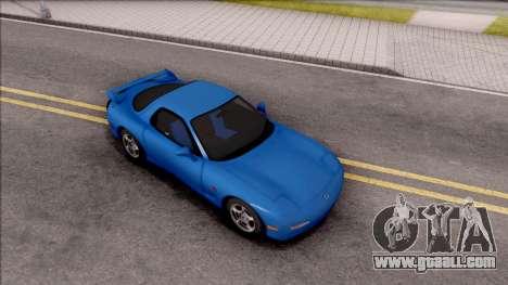 Mazda RX-7 1997 for GTA San Andreas right view