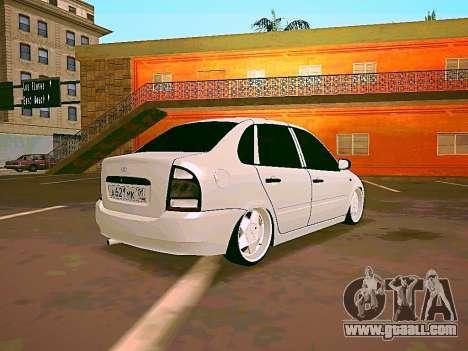 Lada Kalina White for GTA San Andreas left view