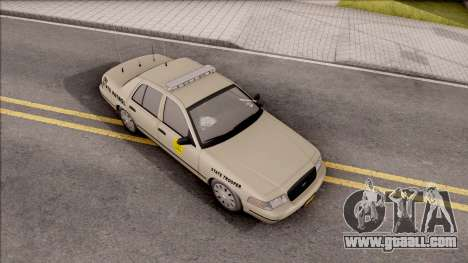 Ford Crown Victoria 2005 Iowa State Patrol for GTA San Andreas right view
