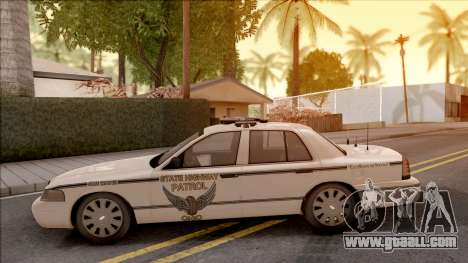 Ford Crown Victoria 2010 OS Highway Patrol for GTA San Andreas left view