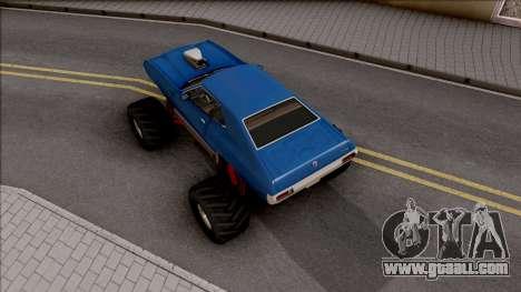 Chevrolet Chevelle SS 1972 Monster Truck for GTA San Andreas back view