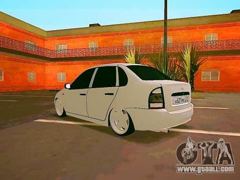 Lada Kalina White for GTA San Andreas right view