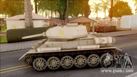 T-34 Z for GTA San Andreas left view