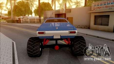 Chevrolet Chevelle SS 1972 Monster Truck for GTA San Andreas back left view