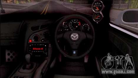Mazda RX-7 Rocket Bunny for GTA San Andreas inner view