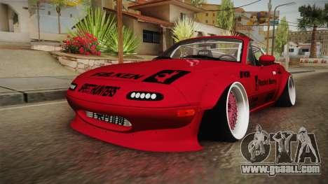 Mazda MX-5 Miata Cabrio Rocket Bunny 1989 for GTA San Andreas
