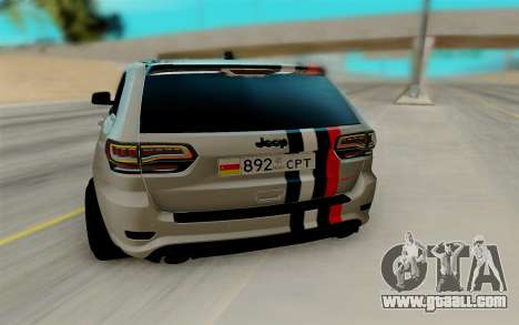 Jeep Grand Cherokee SRT for GTA San Andreas right view