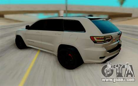 Jeep Grand Cherokee SRT for GTA San Andreas back left view