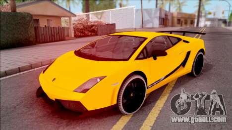 Lamborghini Gallardo Superleggera LP 570-4 for GTA San Andreas bottom view