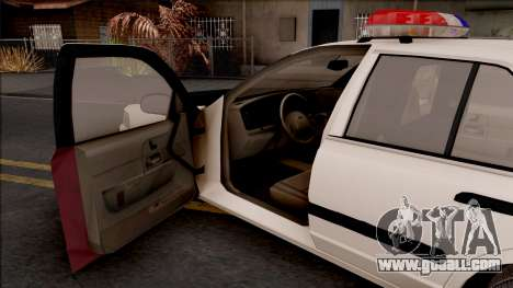 Ford Crown Victoria 2004 Des Moines PD for GTA San Andreas inner view