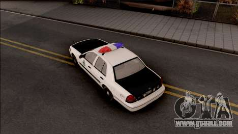 Ford Crown Victoria 2004 Des Moines PD for GTA San Andreas back view