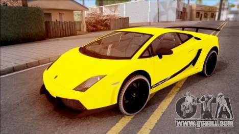 Lamborghini Gallardo Superleggera LP 570-4 for GTA San Andreas upper view
