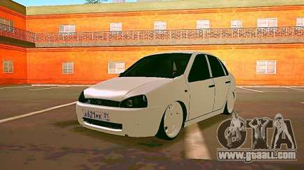 Lada Kalina White for GTA San Andreas