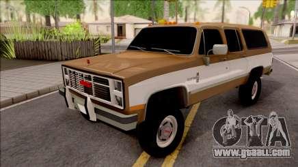 GMC Suburban 2500 1986 for GTA San Andreas