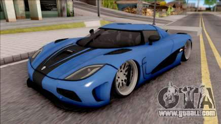 Koenigsegg Agera R Slammed for GTA San Andreas