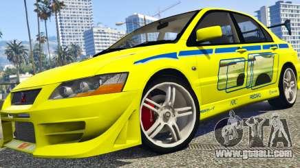Mitsubishi Lancer Evolution VII 1.1 for GTA 5