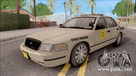 Ford Crown Victoria 2005 Iowa State Patrol for GTA San Andreas