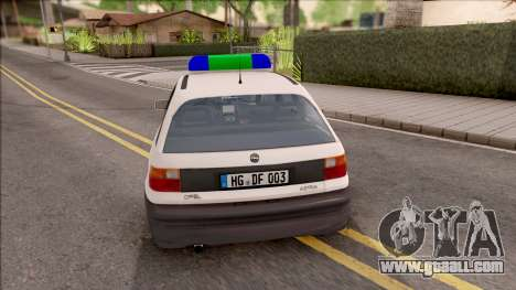 Opel Astra F Polizei for GTA San Andreas back left view