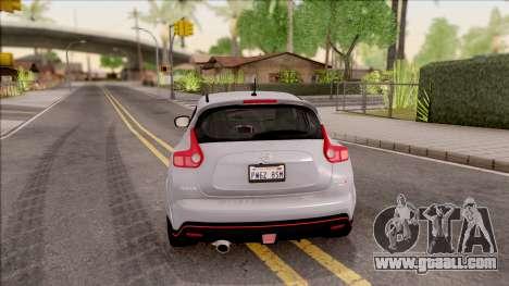 Nissan Juke Nismo RS 2014 v2 for GTA San Andreas
