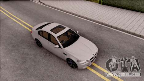 BMW M5 F10 Stock v2 for GTA San Andreas right view