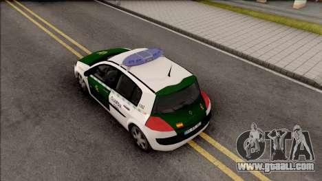 Renault Megane Guardia Civil Spanish for GTA San Andreas back view