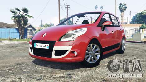 GTA 5 Renault Scenic (JZ) 2009 [replace] rear right side view