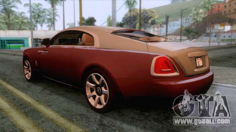 Rolls-Royce Wraith 2014 Coupe for GTA San Andreas left view