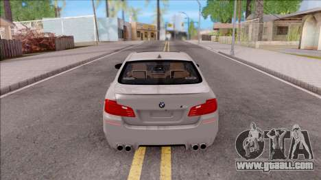 BMW M5 F10 Stock v2 for GTA San Andreas back left view