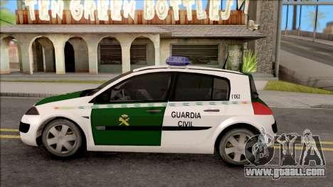 Renault Megane Guardia Civil Spanish for GTA San Andreas left view