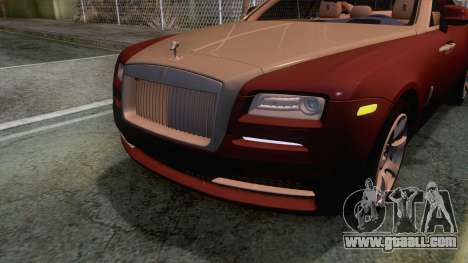 Rolls-Royce Wraith 2014 Coupe for GTA San Andreas upper view