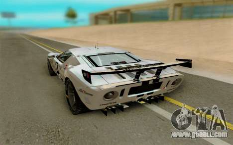 Ford GT LM Gran Turismo for GTA San Andreas back left view