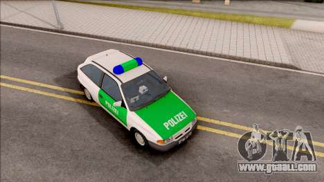 Opel Astra F Polizei for GTA San Andreas right view