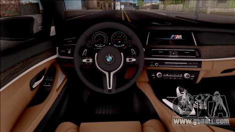 BMW M5 F10 Stock v2 for GTA San Andreas inner view
