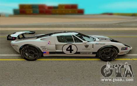 Ford GT LM Gran Turismo for GTA San Andreas left view