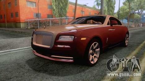 Rolls-Royce Wraith 2014 Coupe for GTA San Andreas