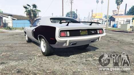 GTA 5 Playmouth Hemi Cuda (BS) 1971 [replace] rear left side view