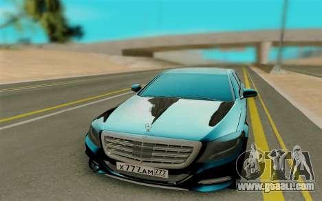 Maybach S400 for GTA San Andreas back view