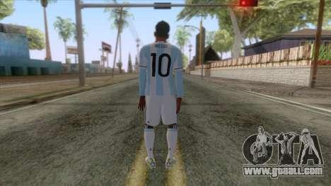 Messi Argentina Skin for GTA San Andreas third screenshot