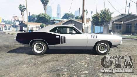 GTA 5 Playmouth Hemi Cuda (BS) 1971 [replace] left side view
