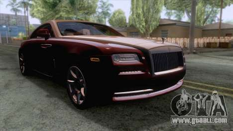 Rolls-Royce Wraith 2014 Coupe for GTA San Andreas back left view