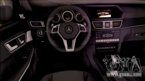Mercedes-Benz E63 AMG v2 for GTA San Andreas inner view