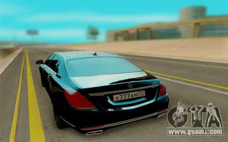 Maybach S400 for GTA San Andreas back left view