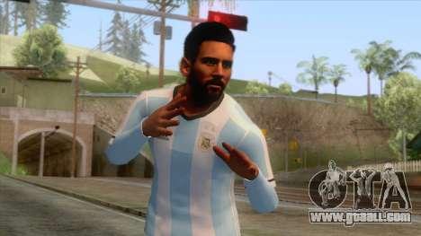 Messi Argentina Skin for GTA San Andreas