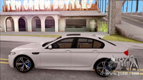 BMW M5 F10 Stock v2 for GTA San Andreas left view