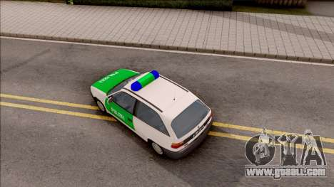 Opel Astra F Polizei for GTA San Andreas back view