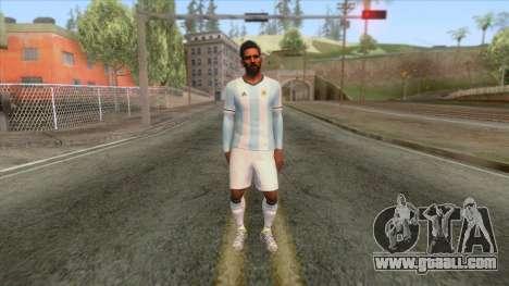 Messi Argentina Skin for GTA San Andreas second screenshot