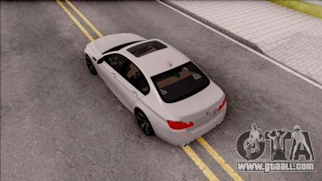 BMW M5 F10 Stock v2 for GTA San Andreas back view