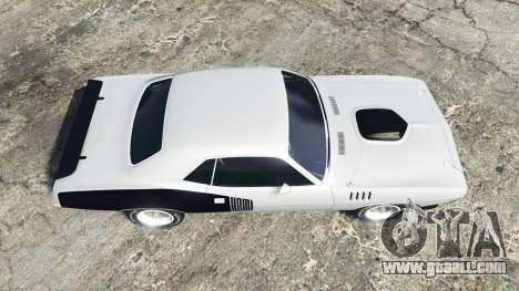 GTA 5 Playmouth Hemi Cuda (BS) 1971 [replace] back view
