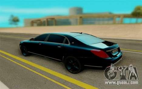 Maybach S400 for GTA San Andreas right view
