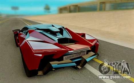 W Motors Fenyr SuperSport for GTA San Andreas back left view